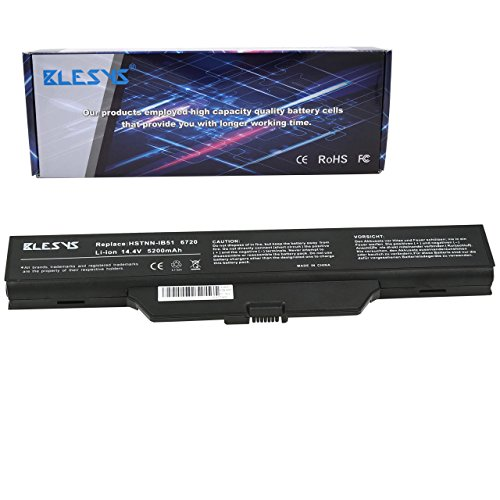 (BLESYS 14.4V 8-Cell Laptop Battery Compatible with HP Compaq Business Notebook 610 6720s 6720s/CT 6730s 6730s/CT 550 Series for HSTNN-OB62)