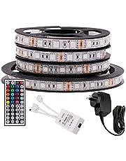 5M RGB LED Strip Lights, 12V 5050 300LEDs Strips Full Kit, Self Adhesive + 44 Key Ir Controller + AU Power Supply (Waterproof)