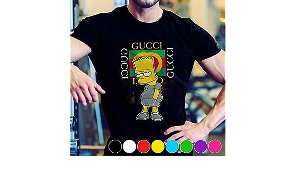 6bac11df Amazon.com: Gucci Fashion Bart Simpson Fan Gift T-Shirt: Handmade