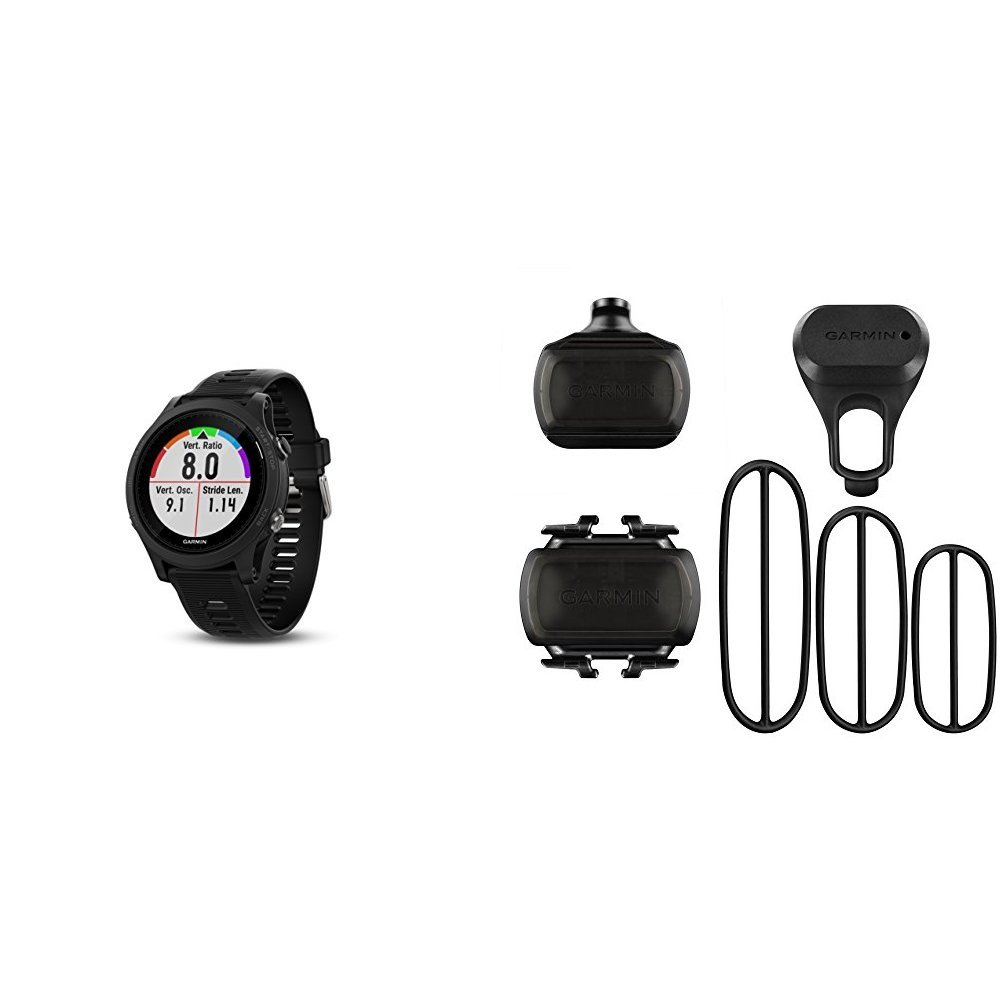 Garmin Forerunner 935 Running GPS Unit (Black) and Bike Speed Sensor and Cadence Sensor Bundle