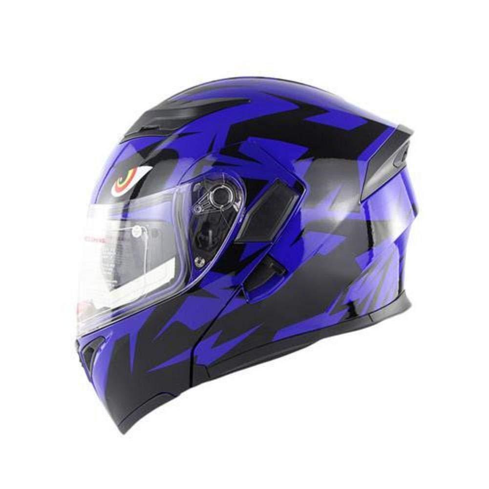 Kbsin212 Motorrad Integralhelm Helm Doppelspiegel Helm Anti Beschlag Atmungsaktiver Helm, Abnehmbares Futter Motorradhelm, Gummischutz Nase Fü r Mä nner Und Frauen