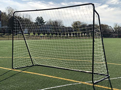 (Vallerta 10x6 Ft. Steel Soccer Goal w/Bungee Straps & Anchors. Portable Practice/Training Aid. Perfect for 5 vs 5. 10 x 6 Foot.)