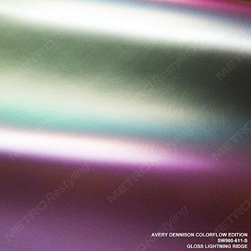 Avery SW900-611-S ColorFlow GLOSS LIGHTNING RIDGE 1ft x 1ft (1 sq/ft) Supreme Vinyl Car Wrap Film from Avery Dennison