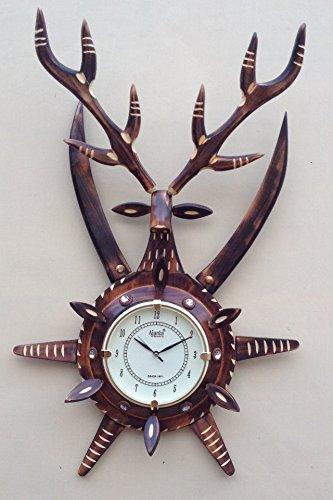Buy Vaanya Krafts Wooden Antique Deer Shape With Sword Beautiful