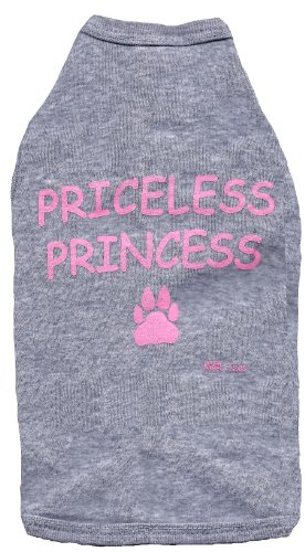 Kool Tees Priceless Princess Dog Tee, Large (Dog Tee Princess)