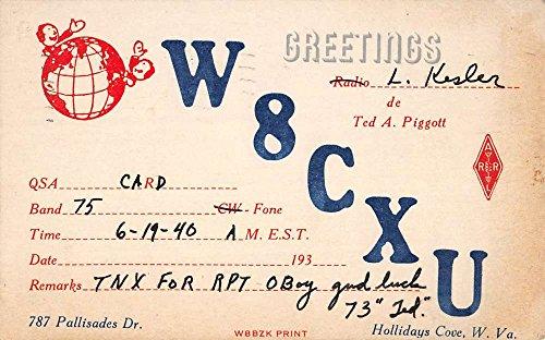 - Hollidays Cove West Virginia W8CXU Radio Advert Antique Postcard K54777