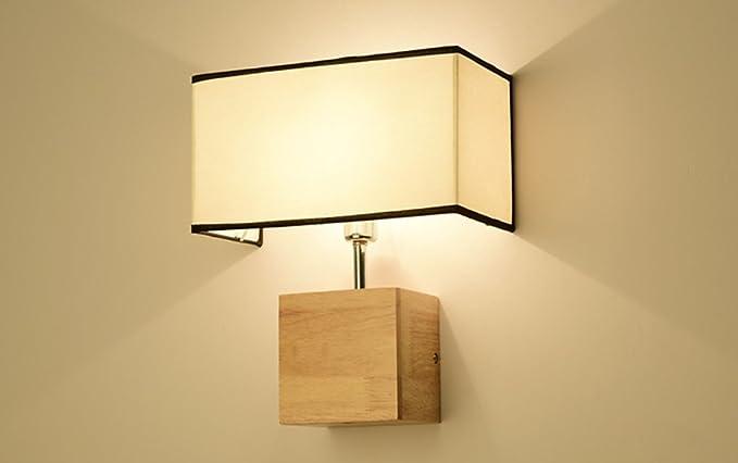 Lampada da parete in legno massiccio design creativo mute con