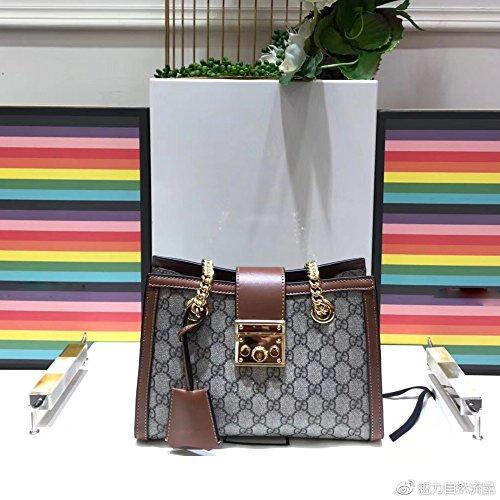 GG Padlock Women Handbag Artificial high canvas Shoulder bag -brown (Gucci Purse Canvas)