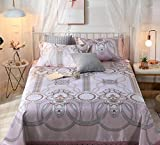 BEIRU Washing Conditioning Mat Bed Sheet Ice Silk Mat Summer Gift Ice Silk Mat Three Sets ZXCV (Color : 11, Size : 250250cm)