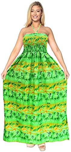 Leela Costume Capestro d664 Pannello Esterno Da Coprire Maxi Superiore Sera Lungo La Del Beachwear Donne Verde Bagno Abito Tubo dFdqBw