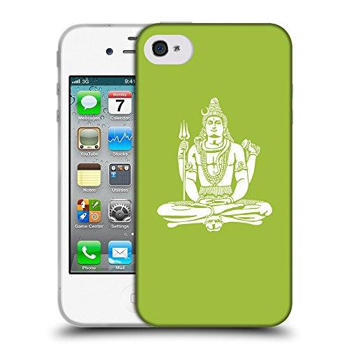 GoGoMobile Coque de Protection TPU Silicone Case pour // Q09530603 Hindou 7 Android vert // Apple iPhone 4 4S 4G