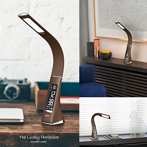 ... WILIT U2 5W Dimmable LED Desk Lamp, Leather Like Office Lamp, ...