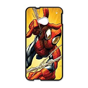 HTC One M7 Cell Phone Case Black Spiderman Web AttackSLI_791353