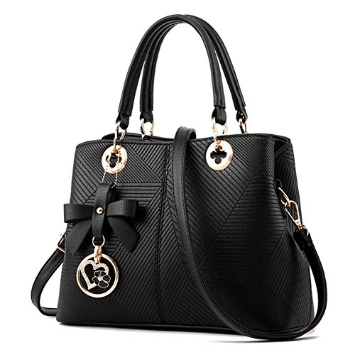 Borsa Shopping Grande Donna Handbag Borse Capacità Piccola Tracolla Da Black wq60ZY