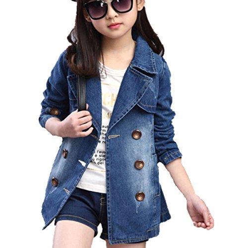 Fanessy Mädchen Jeansjacke kinderjacken kinderkleidung mädchen Denim Jeans Windbreaker-Jacken-Mantel Outwear