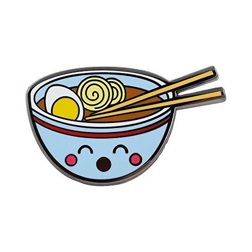 (REAL SIC Ramen Enamel Pin - Cute Kawaii Noodle Lapel Pin - Ramen Fashion Accessory for Jackets, Backpacks, Bags, Hats & Tops)