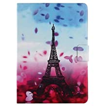 iPad Air Case,iPad 5 Case,Gift_Source [2 Card Slot] Slim Fit Premium Colorful PU Leather Filp Magnetic Case Folio Standing Protective Cover for Apple iPad Air/iPad 5 [Eiffel Tower Paris]