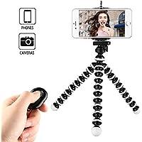Kamisafe Mini Selfie Stick Phone Tripod Stand with Remote Control & Phone Clip Compatible with iPhone Xs MAX XR X 8P 7P 6S Galaxy S9 Plus S8 Note 8 Logitech Webcam C920 C922 C930e C615