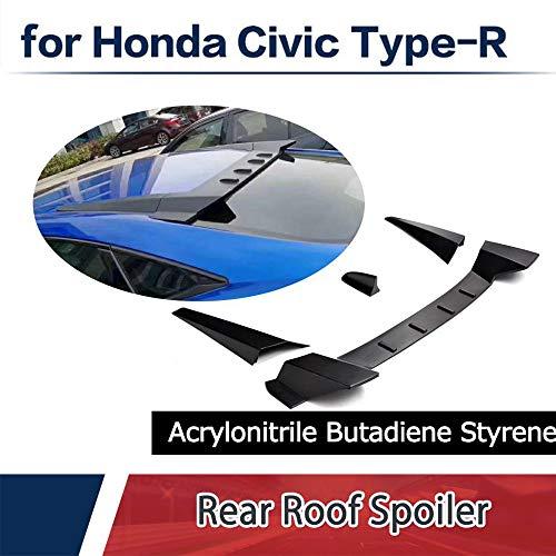(jcsportline fits Honda 10TH Civic Type R Sytle ABS Rear Roof Window Top Spoiler Wing Lip Sedan 4-Door 2016-2018)