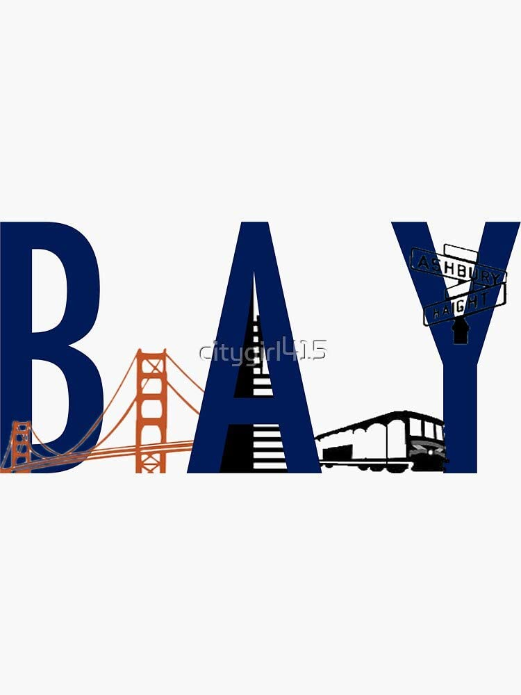 Bay Area Landmarks Sticker - Sticker Graphic - Auto, Wall, Laptop, Cell, Truck Sticker for Windows, Cars, Trucks