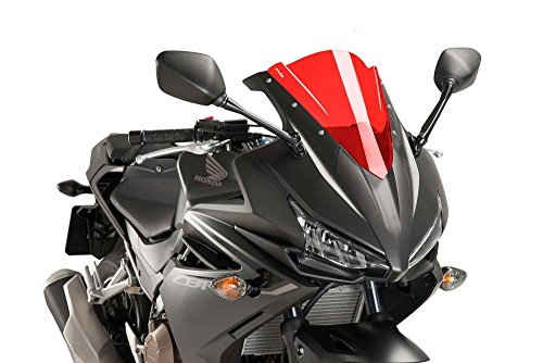 16-18 HONDA CBR500R: Puig Racing Windscreen (3mm) (Red)
