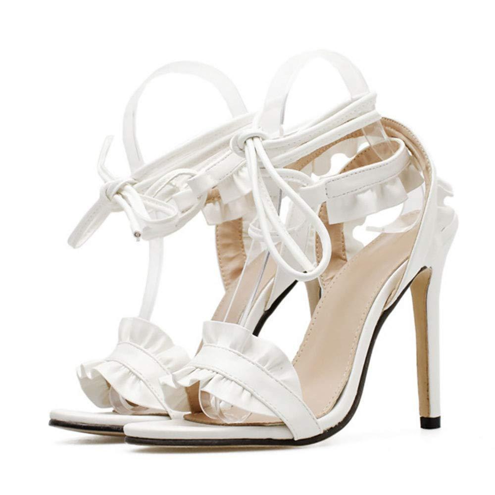 - Lixibei damen es High Heels, Lady es Wooden Ear Sandals Fashion Weiß Stiletto High Heel Sandals Open Toe Fashion Wild