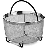 Steamer Basket – Instant Pot Accessories – Vegetable Steamer Basket – EXCLUSIVE Steamer Basket 6qt Pressure Cooker Accessories Fits Insta Pot IP InstaPot Food Steamer Rice Cookers and Pots 6 qt 8qt
