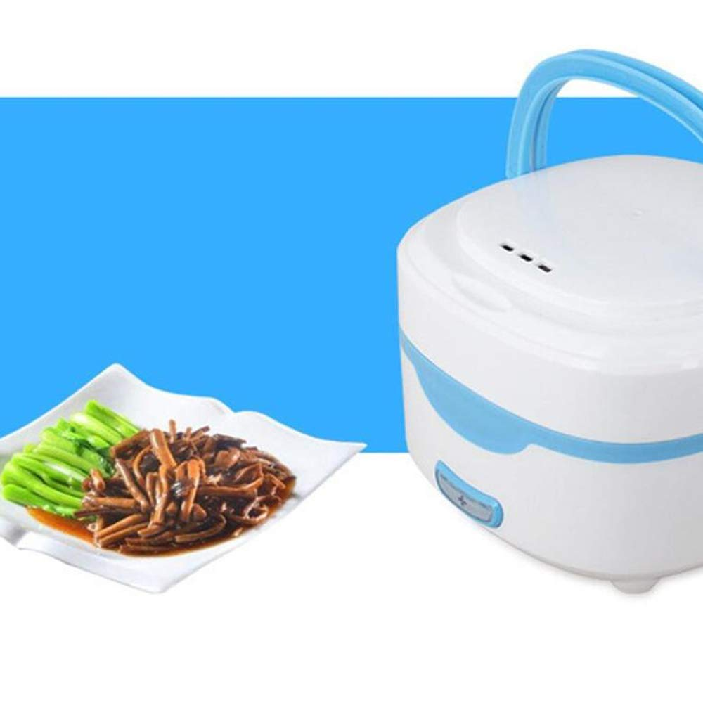 Applicable 1-2 Personnes Mini Rice Cooker LOVE-HOME Simple Couche Liner Automatique en Acier Inoxydable Isolation /électrique Bo/îte d/éjeuner 0.8L,B
