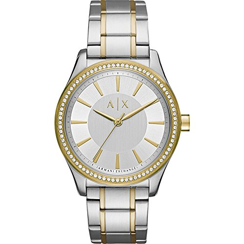 Armani Exchange Women's AX5446 Two Tone Silver and Gold Watch