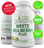 White Mulberry 1000 Supreme,100% Natural, organic formula. Natural blood sugar support supplement, 60 Veggie Capsules For Sale