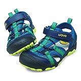 UOVO Boys Sandals Kids Sandals Trekking Hiking Sandals Closed Toe Athletic Summer Shoes for Beach(Toddler/Little Kid/Big Kid) Blue 12.5 UK Child