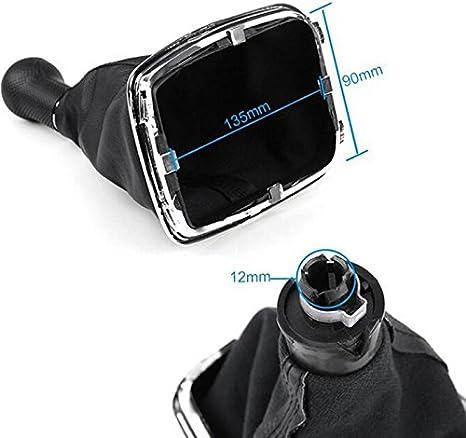 Semoss 5-Gang-Universal-Handschaltknauf mit Starterabdeckung 12 mm Schwarz