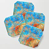 Society6 Drink Coasters, Contemporary Dance by fernandovieira, set of 4