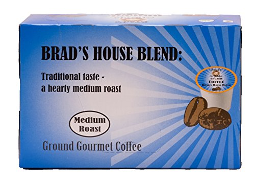 Brad's Organic Coffee Single Serve House Blend, 12 Count (Pack of 6)