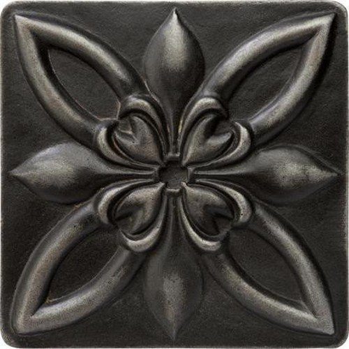 Decorative Insert Tile Flooring (Marazzi Romance Collection Insert Decorative Accents, 2 x 2, Wrought Iron Floral)