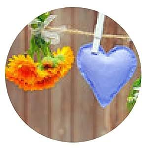 alfombrilla de ratón hierbas con el corazón - ronda - 20cm