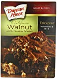 Duncan Hines Decadent Brownie Mix, Walnut, 17.6 Ounce (Pack of 12)