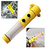 4-in-1 Torch Flashlight Hammer Blade Outdoor Emergency Tool for Car.