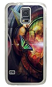 Samsung S5 protective cases Butterfly Abstract PC Transparent Custom Samsung Galaxy S5 Case Cover