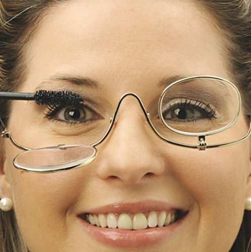 - Magnifying Make up Eyeglasses, 3X Magnification, Single Lens, Flip-able Each Side Cosmetic Application