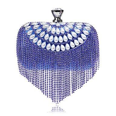 Las mujeres evento formal de poliéster/Partido Bolsa de noche de bodas bolsos,azul de embrague Blue