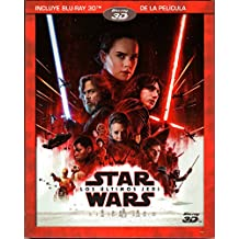 STAR WARS THE LAST JEDI (Star Wars: Los Últimos Jedi) --BLU-RAY 3D-- (English & Spanish Audio and Subtitles) IMPORT