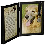 Pawprints Memorial Pet Tag Frame - Pawprints Left