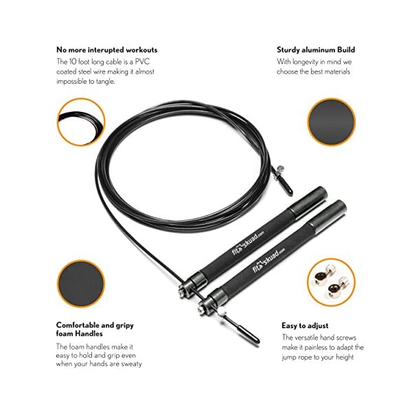 Jump Rope Ideal for Taking Your Workout to the Next Level - Features Ball-bearing System and 6 Inch, Extra-Long Handles That Foster Extreme Speed Jumping - Comes With a Carrying Bag, Rapid Results Manual Ebook 3