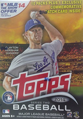 2014 Topps MLB Baseball Series #2 Unopened Blaster Box with 10 Packs of 8 Cards Plus One Exclusive Commemorative Patch Card and Chance for Masahiro Tanaka Jose Abreu Rookies - Baseball Cards 2014 Box