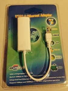 Yumqua@ CABLE ADAPTADOR Mini USB 5 pin a CONEXIÓN DE RED ETHERNET RJ 45 para TABLETS. Mini USB 5 pin to RJ45 ETHERNET LAN CABLE ADAPTER for TABLETS.