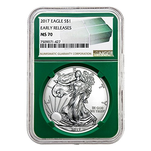 2017 Silver Eagle Green Holder Early Releases $1 MS-70 NGC