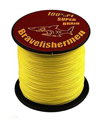 Bravefishermen Super Strong Pe Braided Fishing Line 10LB to100LB Yellow from yu wei