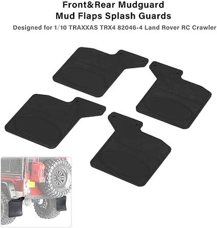 Goolsky 4pcs Front /& Rear Mudguard Mud Flaps Splash Guards Set for 1//10 TRAXXAS TRX4 82046-4 Land Rover RC Crawler Car