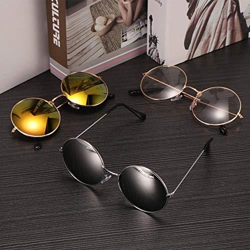 Classique r¨¦tro Style Vintage UV400 Sunsbell de Soleil Lunettes Lunettes Lunettes Lunettes Soleil de Unisexe de Look Qualit¨¦ Soleil Round xnqqITF